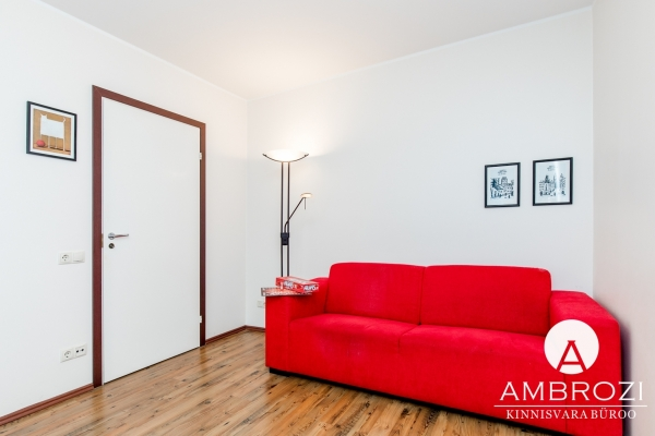 Stylish and memorable 2-room apartment with a red sofa and a loggia in Lasnamäe, Ümera 6