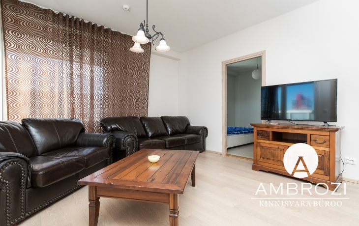 Downtown! Elegant, comfortable 3-room apartment with a loggia and a city view, Pärnu mnt. 110